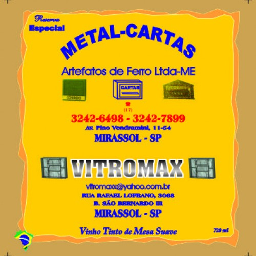 METAL CARTAS + VITROMAX